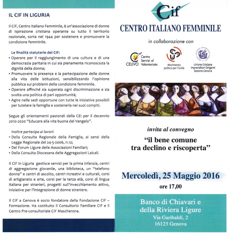 20160525 CIF BeneComune1