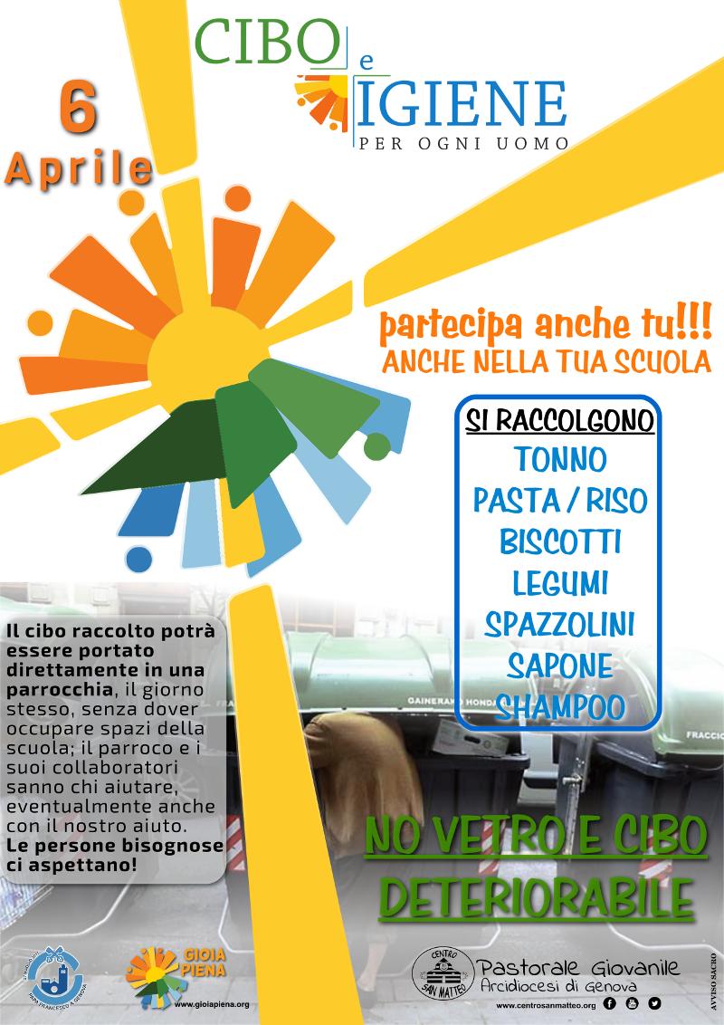 6 aprile - cibo e igiene per tutti